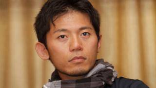 Japanese climber Nobukazu Kuriki attends an event where he accepted a permit to climb Mount Everest in Kathmandu, 23 August 2015