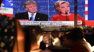 view download images  Images Reality Check: First Clinton v Trump presidential debate - BBC News