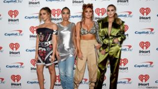 Little Mix pose together on Friday.