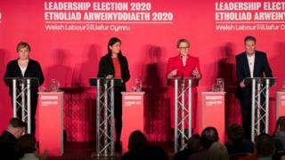 Four candidates at the hustings