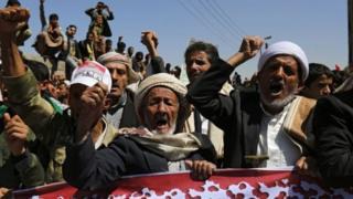 Yemen'de protesto eylemi