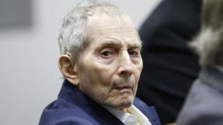 Robert Durst appears during the opening statements of his Trial at the Airport courthouse in Los Angeles, California