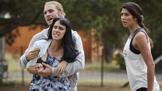 Actress Jessica Falkholt in a Home and Away scene