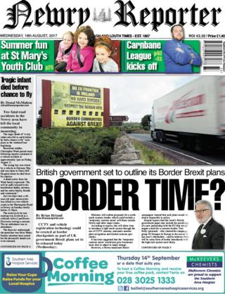Newry Reporter front page