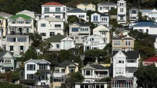 Houses in Oriental Bay in Wellington, New Zealand. File photo