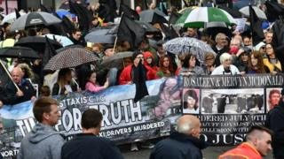 Time for Truth walk in Belfast city centre