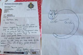 Letter from Durham Police