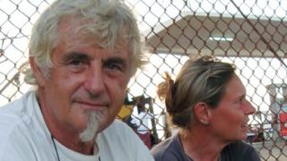 Jurgen Kantner and his wife Sabine Merz pictured in Somalia in 2009