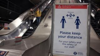Sign on London underground