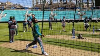 पाकिस्तानी क्रिकेट टीम का अभ्यास