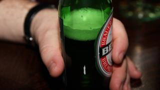Bottle of Becks beer