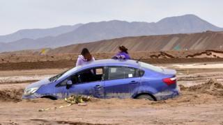 Inundaciones en la región de Antofagasta, norte de Chile