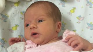 Baby found at bus stop