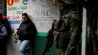 Militar nas ruas do México