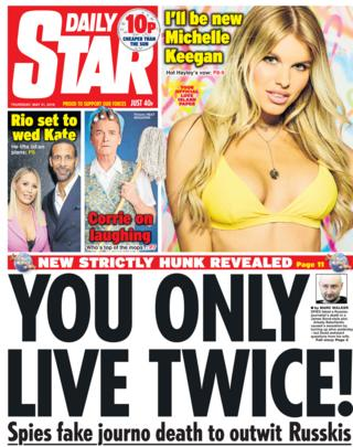 Daily Star front page - 31/05/18