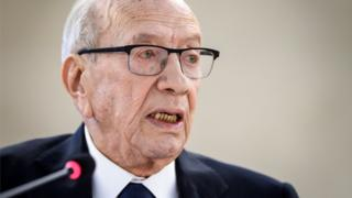 Tunisian President Beji Caid Essebsi pictured in February
