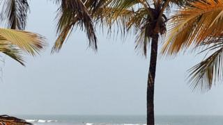 A beach in Senegal's Casamance province