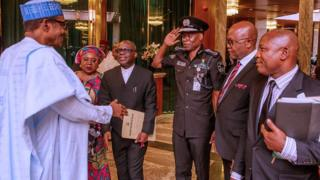 Police IG Abubakar dey salute Buhari on Mnday June 3 for Aso Rock