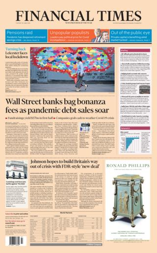 Financial Times front page 30.06.20