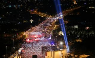 Tens of thousands went to the bridge in Istanbul that has become a landmark of the failed coup