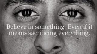 Nike advert featuring Colin Kaepernick