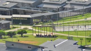 Image of Christmas Island Immigration Detention Centre taken on July 26, 2013