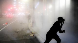 in_pictures Tear gas fired in Detroit