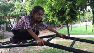 Navya Singh in the playground