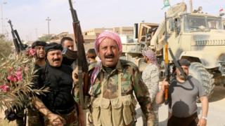 Geçen ay Rawa kasabasını Irak'tan geri alam Irak güçleri