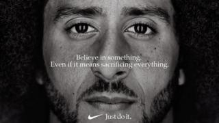 Nike advert featuring Colin Kaepernick.