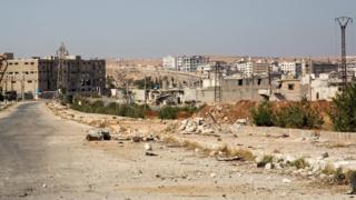 """один из районов Алеппо во время """"гуманитарной паузы"""""""