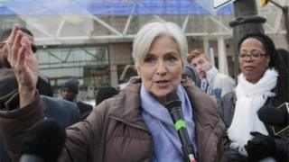 Green Party candidate in the US election, Jill Stein, 10 December 2016