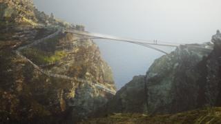 Tintagel footbridge design