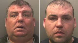 Thomas Stokes, 47, and son Martin, 23,