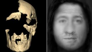 Facial reconstruction of man who died in Derbyshire 4,000 years ago