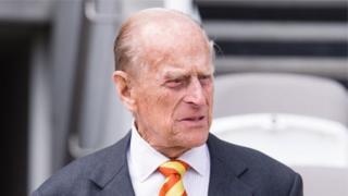 Le prince Philip, duc d'Édimbourg.