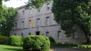 The Apostolic Nunciature of the United States of America, or Vatican embassy, in Washington, DC.