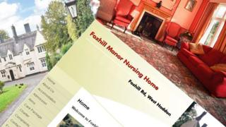 Screenshots from the old Foxhill Manor Nursing Home website