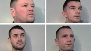 Neil Scott, Ryan Ingleston, Andrew Weir and Andrew Raven (L-R)
