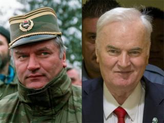 Ратко Младич в 1994 году и перед вынесением приговора в 2017-м