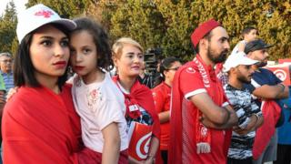 Tunisian fans were left disappointed by the second goal