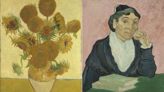 《向日葵》和《阿尔勒的女人》Sunflowers 1888/L'Arlesienne