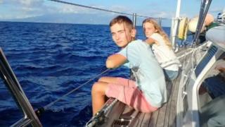 Eddie with his sister, Amelie