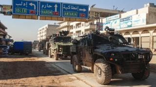İdlib'deki Türk askeri konvoyu