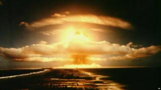 Nuclear mushroom cloud - file pic