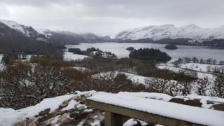 Derwentwater and Catbells, in Cumbria, taken from Castlehead