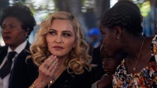 US pop star Madonna