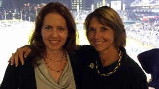 Erin Gibson Allen (left) with Judge Lisa Pupo Lenihan