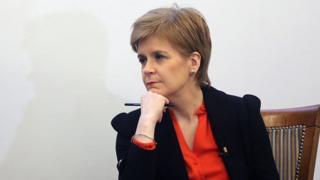 Nicola Sturgeon, thinking