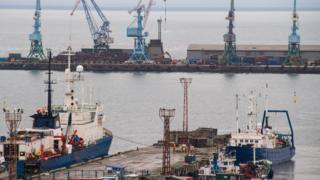 Порт на Сахалине
